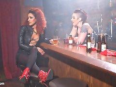 Welcome back to the salacious dyke bar where insatiable bartender Mistress Kara instigates kinky...