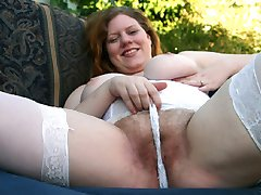 Hairy girl cant get enough cum!