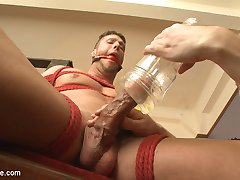 Van and Sebastian find straight hottie Rod Peterson waiting for them in one of the Armorys...