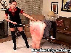 The dominating Mistress of this spanking video came home one day to find that her lesbian lover...