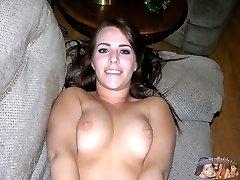 Sexy Nude Amateur Brunette Babe Named Rosalee Modeling