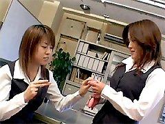 Japanese teens office sex
