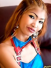 Blonde thai chick strips for you.
