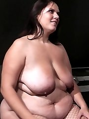 Guy earns his right to get through the door by fucking a mean hot BBW bouncer