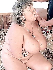 Big titted granny enjoying some 69 fun