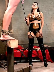 Nomad is a lucky little slave. Sativa has him hidden in her basement apartment and shows him...
