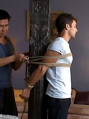 For his first time with another man and first time on video, we welcome straight hunk Atticus...