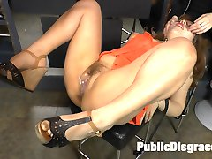 Mitsuki Sweet is back on Public Disgrace and ready to serve Steve Holmes and the public of...