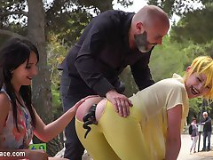 Part 1 - Spanish Slut gets disgraced like a pig!Perky Nerea Falco is ready to be disgraced. But...