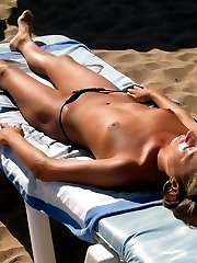 These shameless girls prefer wearing topless bikini