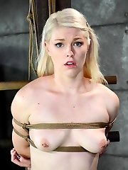 Platinum Blonde Ella Nova is in the house again. Beautiful face and nailing figure, this marvelous submissive is here to have fun rough. Even if Ella's face is contorted in agony we all know exactly what she wants and why she is here. Hardtied.com is all about raunchy strap restrain bondage and strong obliged climaxes. No one comes here looking for anything else. We give them the greatest time of their lives and they know it.