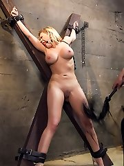 When trampy, big tit American tourist Kagney Linn Karter gets caught at the Brazilian border with a purse total of pills, the border police are none too pleased with her privileged attitude. Border Policia Marco Banderas puts the buxom wealthy biotch in a cell, cuffs her, de-robe searches her and when she protests he shoves his rock-hard beefstick down her hatch to shut her up.Stripped and jailed, Kagney is taken out of her cage only to be used as a fucktoy for the sadomasochistic guard. He handcuffs her to the St Andrews Cross and sexually torments her for fun - that Sick Bastard.When her jailer grows weakened of tormenting Kagney's huge, pearly mammories, he ties her down and fucks that privileged Yankee hoe right in the caboose with his huge Mexican boner. Kagney learns to love the attention, and pleads for more as Marco bursts his super-steamy man juice all over his slutty captive. Kagney takes a hammer to her Pride and Privilege, but learns a hard lesson in international relationships.