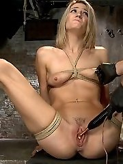 Amanda Tate is what bondage riggers call fresh meat. And screwing this poon is known as ravaging the meat. But first she has to say,