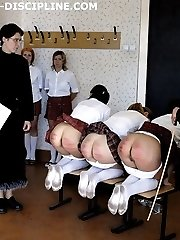 5 young russian girls spanked and caned to tears
