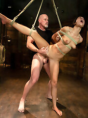 Lyla Storm is very excited about being used and fucked in stiff bondage by Mark Davis.  She is a tough girl who is very flexible which permits us to tie her up tight in vulnerable hump positions.  She endures nicely from corporal punishment, suspension bondage and predominant sex in this intense and genuine Sadism & Masochism scene!