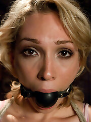 19 year old Lily LaBeau gets her very first taste of BDSM and loves it!  Her submission is breathtaking, suffering beautifully under James Deen's stern domination.  This is an intense vignette with genuine reactions from a beautiful girl and great chemistry.   Includes bound fisting, anal toys, caning, sex and restrain bondage, rough sex, deep throat and orgasms!