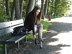 If you have a true fetish for ladies heels then the sight of a lady like Sara will at once give you the urge and an uplift as you desire her beauty, her legs and her lovely high heel shoes