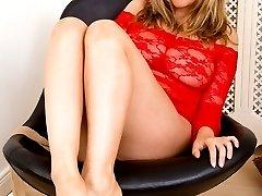 Jenny enjoys getting some moisture on her feet!