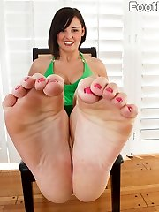 Brooke has a foot fetish of sorts herself. In fact, shes masturbating to her favorite foot porn...