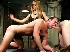 Mistress Lea Lexis arrives on set and mid pre interview requests to see Cameron Kincades cock...
