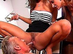 Nasty pee drinking femdom with Rachel