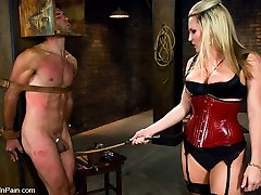 If you do not like to witness gorgeous females hit the crap out of arrogant men, then this shoot is not for you.  Harmony and Euro have a turbulent history.  He is a lil' bastard and she is a dominant mega-slut.  They truly are a nice couple.  That is, if you like pain,  degradation, manage and dehumanization.