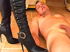 Black shoes femdom with mistress Alysha