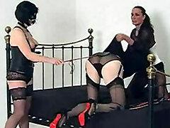 This little sissy slut gets dressed up by Belt Dick Jane