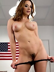 Sadistic lesbian TSA agent Chanel Preston has vowed to detain every porn performer who comes...