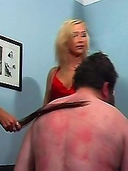 Hard spanking and foot domination