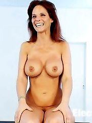 Syren De Mers firm round tits and ass get bound in a severe back arch, with the cruel copper...