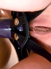 Mistress Kendra is smoking hot wearing tight fitted latex and a sadistic smile.  She seizes control immediately and sets him to task trying to produce his pathetic cock for her inspection while impossibly tied up and under her ever attentive whip.  She drills her rules into his head and orders him to recite them back but he just can't get it right.  Mistress decides a little pain might help with his focus, and proceeds to push him to his limits with simple tools and seductive reasoning.  The final result is a powerless man, his ass helplessly impaled on her strap on, stroking his useless cock in a pathetic attempt to amuse his Mistress.  She humiliates him to the end, even as he licks his come off his own fingers, face burning in shame.