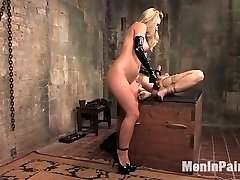 When a handsome but insatiable dominatrix runs out of fine guys, her hunt for pink cigar leads to nightly rituals of testing the latest candidates in her basement boiler guest room.  Her latest is a uber-cute lil fucker with a rigid cock and an attitude, but can he take it from Harmony Rose?A stick in the butt and a red-hot demanding puss in his face is Jesse's prize for abasing himself and submitting to this mean bitch's whims.  Don't you fantasy it was you?