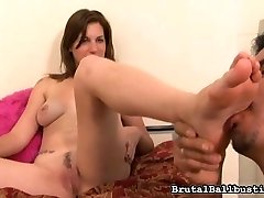 Lacey Lawless' houseboy seems too convenient in her house. He's walking around naked, odorous her underpants, smelling them when they're still on her.