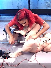Daisy Ducati gives Arabelle Raphael an orgasmic first time electro sex experience with the...