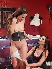Kirsten Price and Cassidy Klein go out shopping for corsets when, inspired by the kinky attire, Kirsten seduces her friend to submit to some hot lesbian action! Spanking, bondage, cropping, fingering, dick-on-a stick, face sitting, clothespins, and a hot strap-on fucking turn their ordinary shopping trip into a unforgettable orgasmic experience!