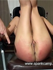 Abjecting interrogation room punishments - deep vaginal and anal invasion inspections - blistered ass cheek