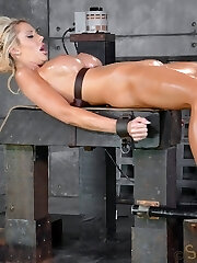 Courtney Taylor is a barbie doll come to life. Good-sized tits, big blow job lips, sweet bootie, long blonde hair, sunburn and a shaved twat. This sexbot was put on the planet to smash and she is very very good at it. Today we are going to put our intercourse doll to the test.