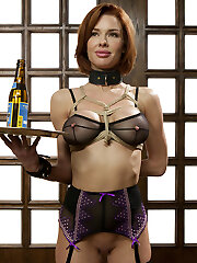 Veronica Avluv is a nymphomaniac anal invasion luving squirting climax Cougar. When put in a practical domestic setting, her pussy starts to twitch and her ass hole dilates in anticipation of hard cock. Beautiful pouting lips wrap around thick cock as nipple forceps pull painfully, juggling huge tits as she gags down gimp meat.Reverse cowgirl is the go-to position for sub training because it is BRUTAL. Avluv is strongest than she thinks, especially when stuffed with hard manstick. Her pussy responds to the merciless pounding by spasming and spurting a quart all over the loft.Cougar Avluv's final test for the day is pile-driver anal. Culo up and open, she is unbelievably sexy in this bum pounding vulva squirting scene.