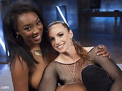 Bella Rossi has found another outlet for lesbian domination and electro sadism! Anal slut, Lisa...