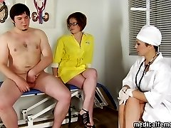 CFNM checkup with wicked femdom pranks