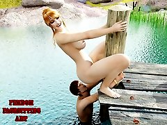 A sexy laundress grasps a thief and starts humiliating him with pleasure! See these amazing 3 D...