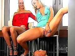 Mean Pee and foot domination with Roxy