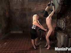 Lorelei Lee porks her gimp studs ass then makes him sweep up!