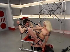 Long time submissive, Lorelei Lee takes hold of the other end of the whip for this Meninpain update. The fantastic Mistress proves She can dish what She can take as She paddles, lashes, fucks and ball smacking Her little slut until he squeals. And for Her hard work training the new guy, She is rewarded with a lovely, extensive foot worship and a ripe ass for penetrating.