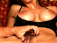 Lingerie clad Hirsute Angel Wildfire got her hairy pussy combed and fingered before riding a cock