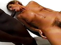 Hot Older Lady Takes Bath, Then Gets Fuzzy Muff Fucked!