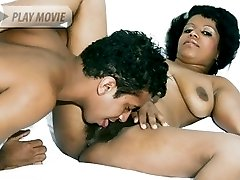 Check out this hirsute lady as she gets lucky and experiences cunnilingus after sucking and...