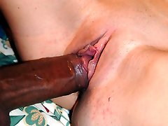 Milf sucks on 13 inches of ebony meat