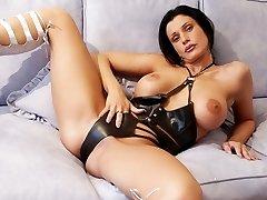 Witness this steamy big tit spandex brunette